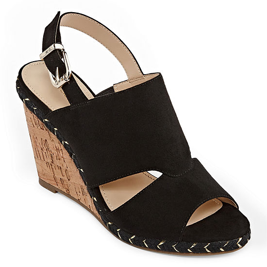 Liz Claiborne Womens Johanna Wedge Sandals