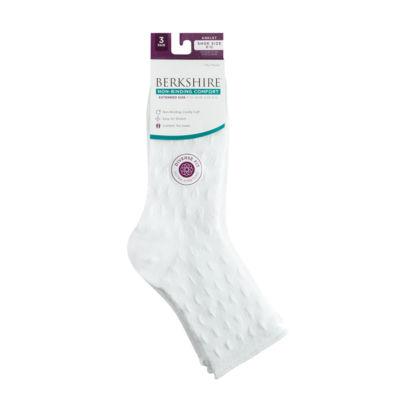 Berkshire Non Binding 3 Pk Ankle Socks Extended Size- Womens