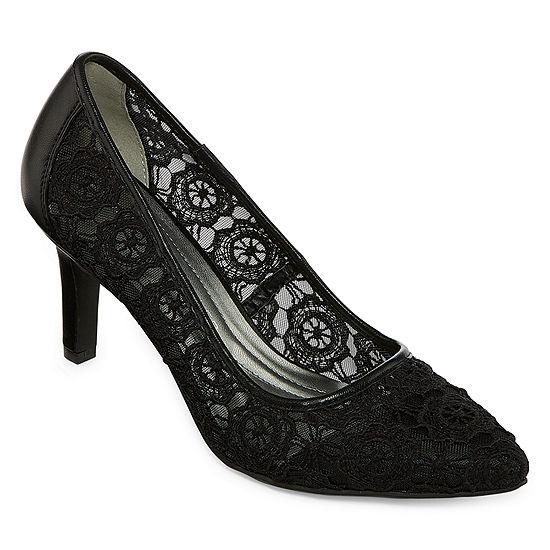 Andrew Geller Womens Twilla Pumps Pointed Toe Stiletto Heel