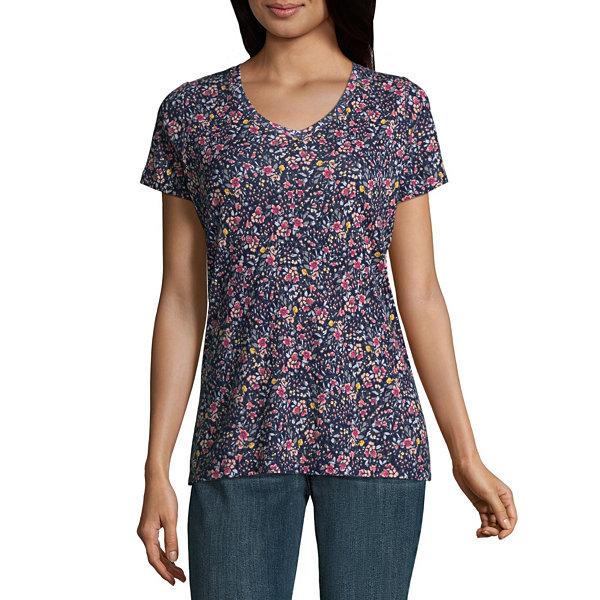 St. John's Bay V-Neck  T-Shirt- Talls
