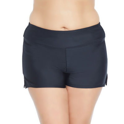 St. John's Bay Boyshort Swimsuit Bottom-Plus