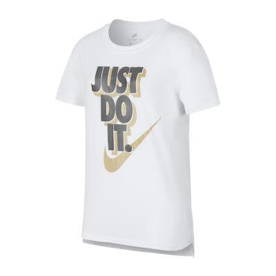 Nike Short Sleeve Crew Neck T-Shirt-Big Kid Girls