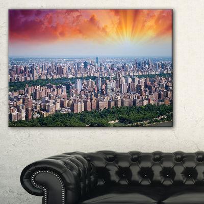Designart New York Beautiful Manhattan Skyline Canvas Art