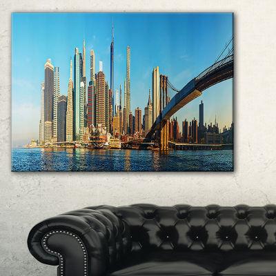Designart New York City With Brooklyn Bridge Canvas Art