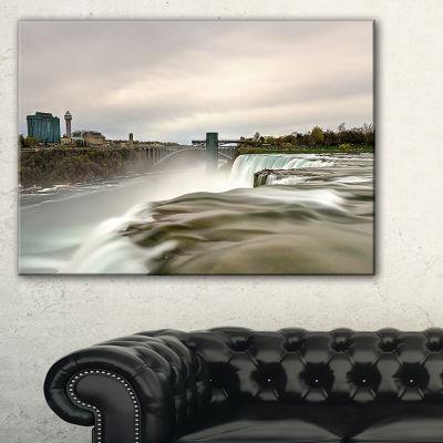 Designart Niagara Falls Goat Island View Canvas Art