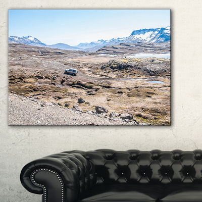 Designart Off Road Iceland Mountains Canvas Art