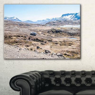 Designart Off Road Iceland Mountains Canvas Art