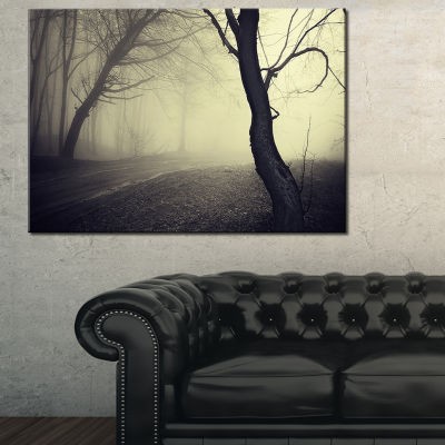 Designart Old Looking Fall Forest Shoot Canvas Art