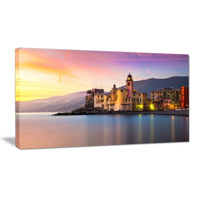 Designart Old Mediterranean Town At Sunrise Canvas Art