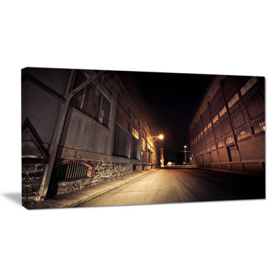 Designart Old Road And Buildings Canvas Art