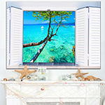 Designart Open Window To Gorgeous Seashore Canvas Art