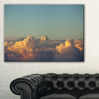 Designart Orange Clouds Colorful Sunset In Sky Canvas Art