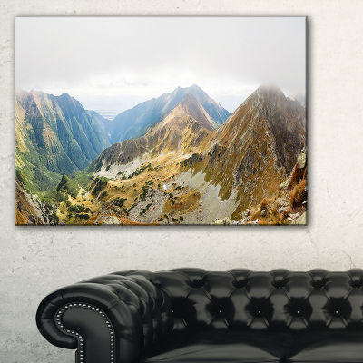 Designart Ostry Rohac And Placlive Peaks Canvas Art