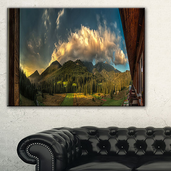 Designart Outside View From Hotel Room Canvas Art