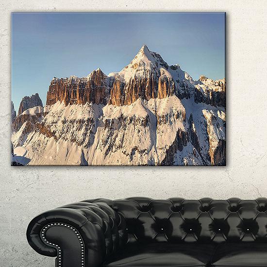 Designart Overcast Sky Over Italian Alps Canvas Art