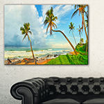 Designart Palm Trees Over The Beach Sri Lanka Canvas Art