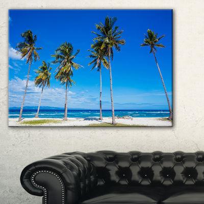 Designart Palms On Philippines Tropical Beach Canvas Art