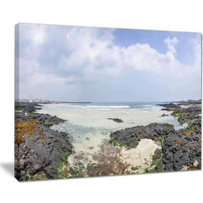 Designart Panorama View Of Woljeongri Beach Canvas Art
