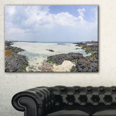 Designart Panorama View Of Woljeongri Beach Canvas Art