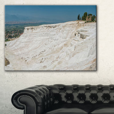 Designart Panoramic View Of Pammukale Canvas Art