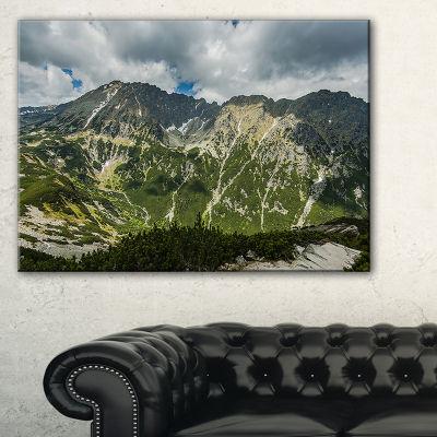 Designart Panoramic Vista Over Mountains Canvas Art