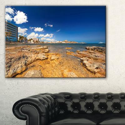Designart Paradise Beach In Ibiza Island Canvas Art