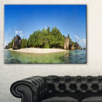 Designart Paradise On Earth Seychelles Island Canvas Art