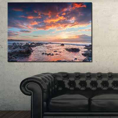 Designart Passero Cape Spring Sunrise Canvas Art