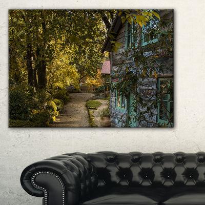 Designart Pathway In The Green Garden Canvas Art