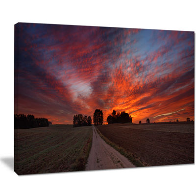 Designart Pathway To Fairy Autumn Sky Canvas Art