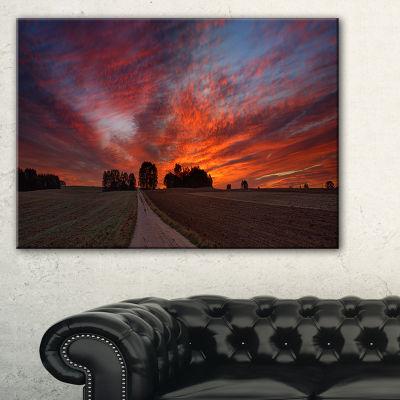 Designart Pathway To Fairy Autumn Sky Canvas Art