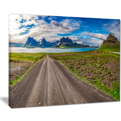 Designart Peaks And Fjords Panoramic View Canvas Art
