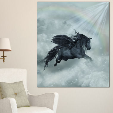 Designart Pegasus In The Heaven Canvas Art