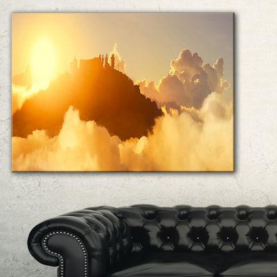 Designart People Enjoying Sunset On Top Of Mountain Canvas Art