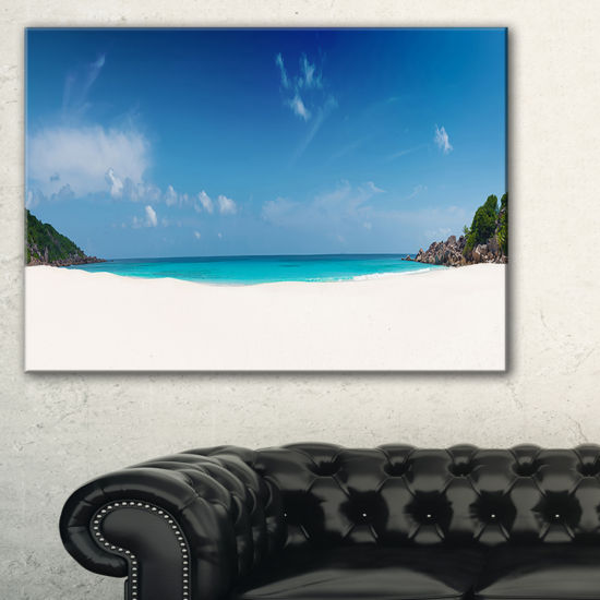 Designart Petite Anse Beach La Digue Island Canvas Art