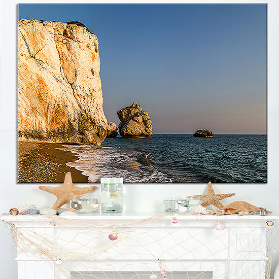 Designart Petra Tou Romiou Or Aphrodite S Rock Canvas Art