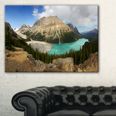 Designart Peyto Lake Glacial Panorama Canvas Art
