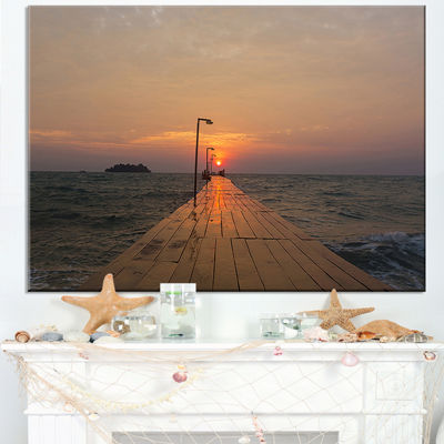 Designart Large Pier At Koh Rong Island Canvas Art