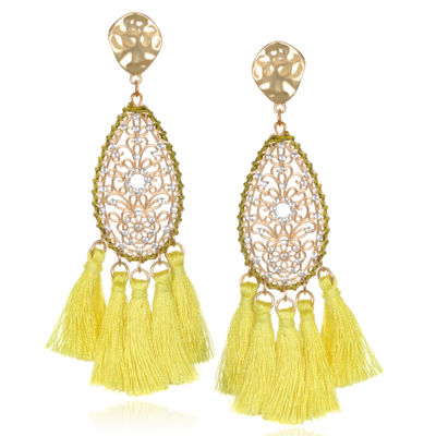 Bijoux Bar Brass Drop Earrings