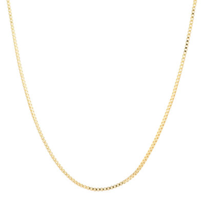 Silver Reflections Solid Box 20 Inch Chain Necklace