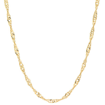 Silver Reflections Gold Over Brass 20 Inch Chain Necklace