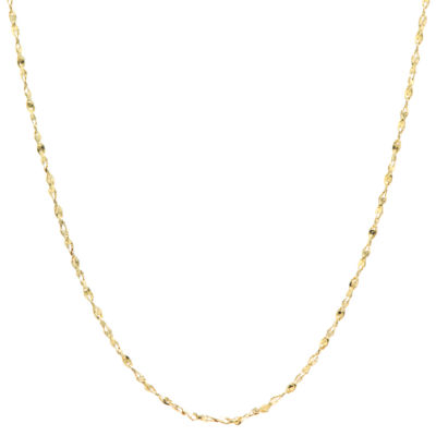Silver Reflections Gold Over Brass 18 Inch Chain Necklace