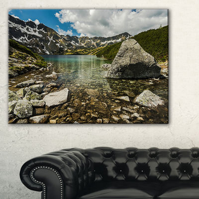 Designart Pond In Five Lakes Valley Canvas Art