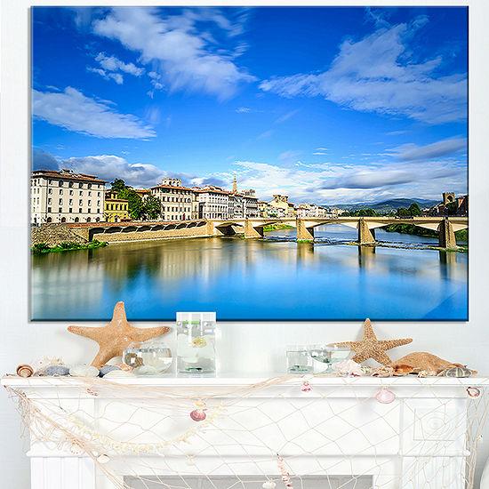 Designart Ponte Alle Grazie Florence Italy Canvas Art