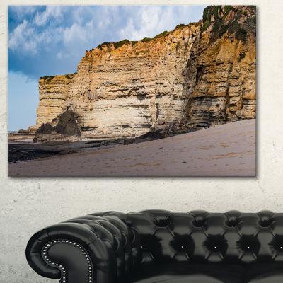 Designart Portuguese Atlantic Coast Panorama Canvas Art