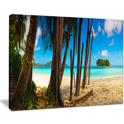 Designart Praslin Island Tropical Beach Panorama Canvas Art