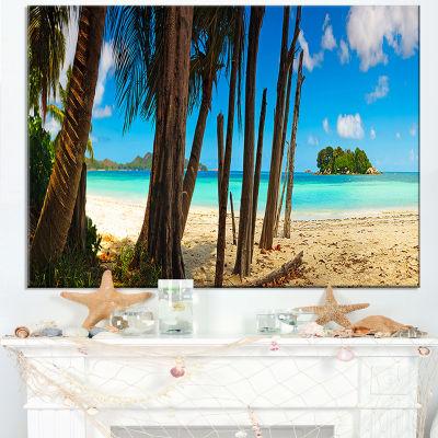 Designart Praslin Island Tropical Beach Panorama Canvas Art