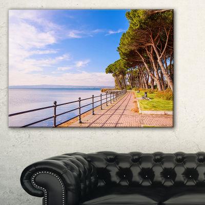 Designart Promenade And Pine Trees In Italy Canvas Art