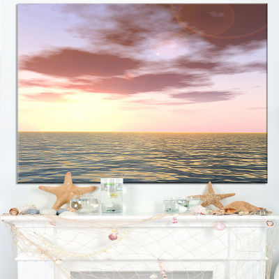 Designart Purple Tinged Atlantic Seashore Canvas Art