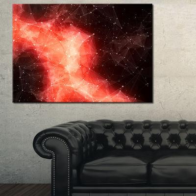 Designart Red Nebula In Cosmos Canvas Art